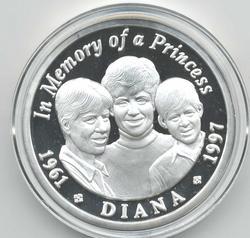 монета памяти принцессы Дианы