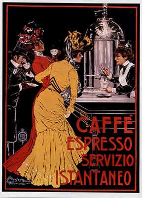 Кофе-эспрессо (винтаж постер)